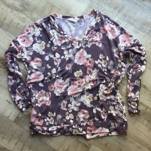 PinkBlush floral jumper sweater with pockets